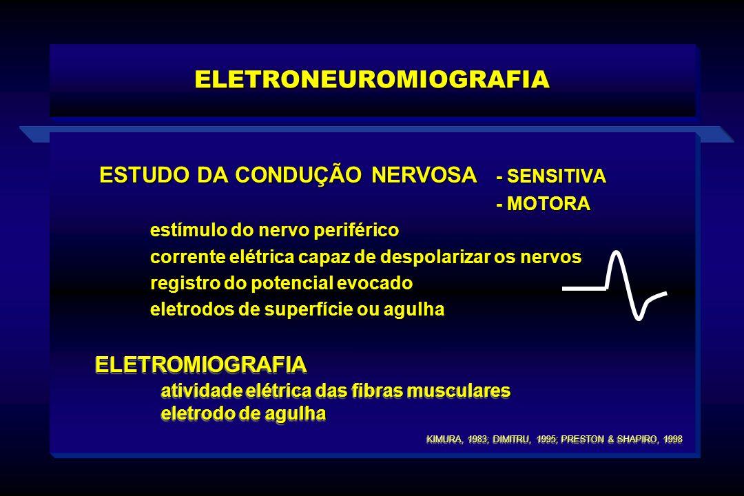 ESTUDO DA CONDUÇÃO NERVOSA - SENSITIVA - MOTORA - MOTORA estímulo do nervo periférico corrente elétrica capaz de despolarizar os nervos registro do po