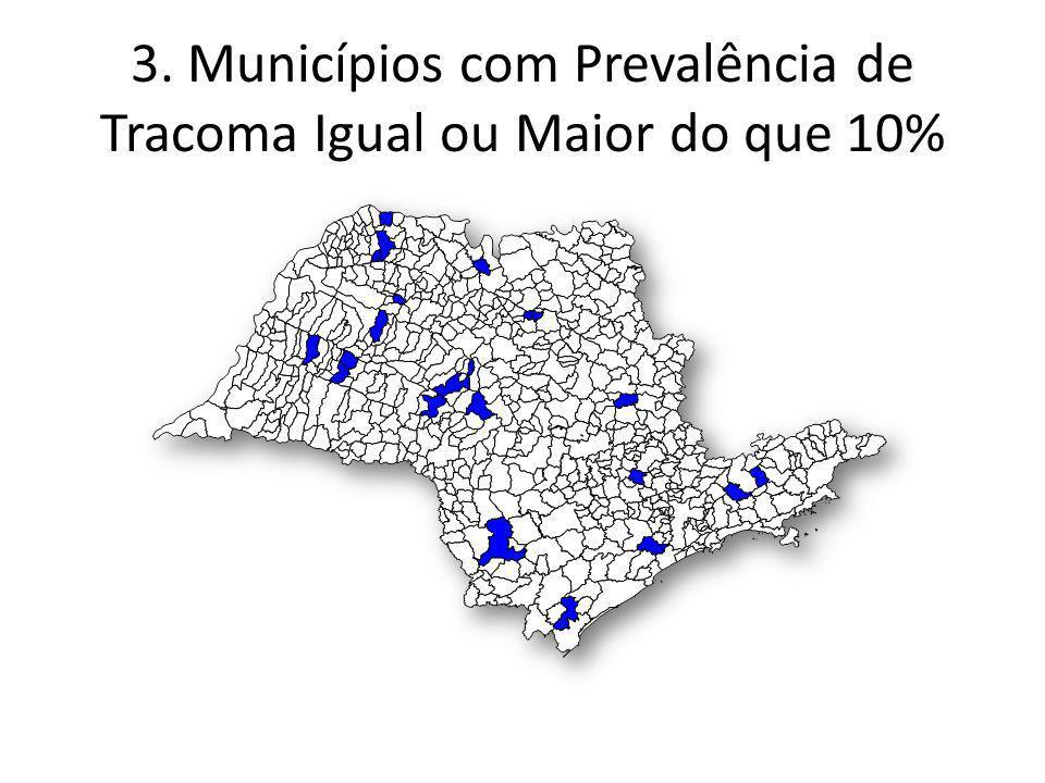 Municípios Prioritários – Brasil sem Miséria – Segmentos Hanseníase e Tracoma.Brasil Sem Miséria que recebram Recursos = 35.Brasil Sem Miséria que não recebram Recursos = 104.Municípios que detectaram Crianças em 2011 e não São prioridade BSM = 19 Municípios com Prevalencia de Tracoma maior do que 10%e não são BSM = 18 Municípios com Prevalencia de Tracoma igual ou Maior do que 10% e Detecção de Hanseníase em Criança e que não são BSM = 4 176 municípios