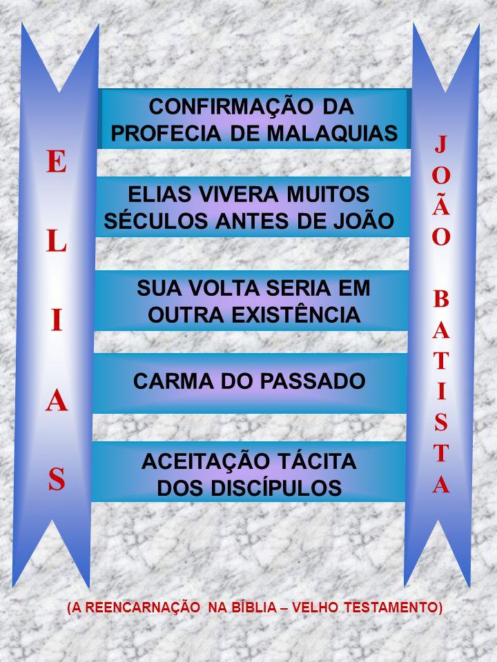 SUA VOLTA SERIA EM OUTRA EXISTÊNCIA ELIAS VIVERA MUITOS SÉCULOS ANTES DE JOÃO ELIASELIAS JOÃOBATISTAJOÃOBATISTA CONFIRMAÇÃO DA PROFECIA DE MALAQUIAS C