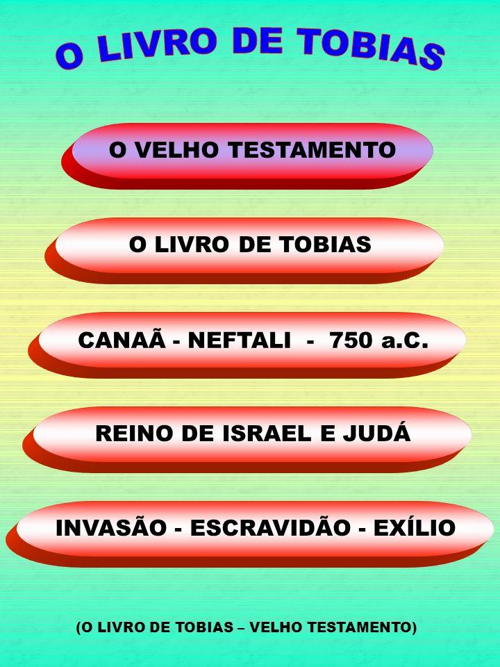 INVASÃO - ESCRAVIDÃO - EXÍLIO REINO DE ISRAEL E JUDÁ CANAÃ - NEFTALI - 750 a.C. O LIVRO DE TOBIAS O VELHO TESTAMENTO (O LIVRO DE TOBIAS – VELHO TESTAM