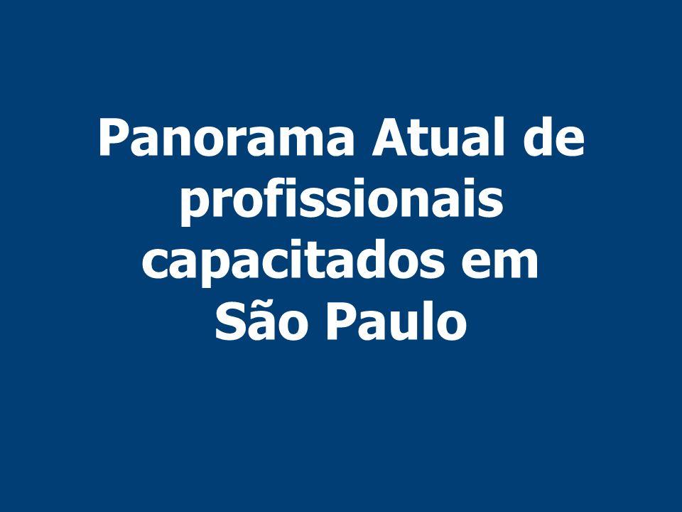 Panorama Atual de profissionais capacitados em São Paulo