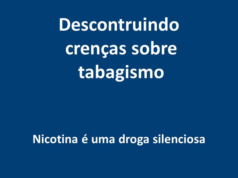 Mortes Tabaco X mortes acidente de transito Mortes anuais por tabaco no Brasil Mortes anuais por acidentes de carro no Brasil 200 MIL mortes anuais por doenças ligadas ao Tabagismo Ativo no Brasil.