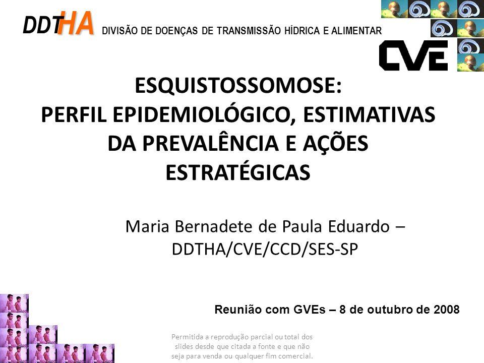 OUTRAS CARACTERÍSTICAS EPIDEMIOLÓGICAS – 2003 a 2007 Coef.