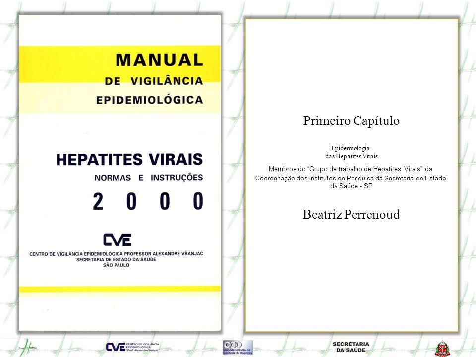 Protocolo Tratamento Hepatite C Crônica com INF alfa (Resolução SS 137) 1998 Março 2000 Protocolo Tratamento Hepatite C Crônica com INF alfa e Ribavirina (Resolução SS 25) Julho 2000 Protocolo Tratamento Hepatite C Crônica com INF alfa e Ribavirina e inclui PCR e Genotipagem (Portaria MS 639) 2000 Lançamento 1º Manual de Hepatites Virais do CVE – SES - SP Maio 2001 Lançamento do Programa Estadual de Hepatites Virais Março 2001 Instituído o Comitê Assessor Permanente da SES (Resolução SS 77) PROGRAMA ESTADUAL DE HEPATITES VIRAIS - HISTÓRICO