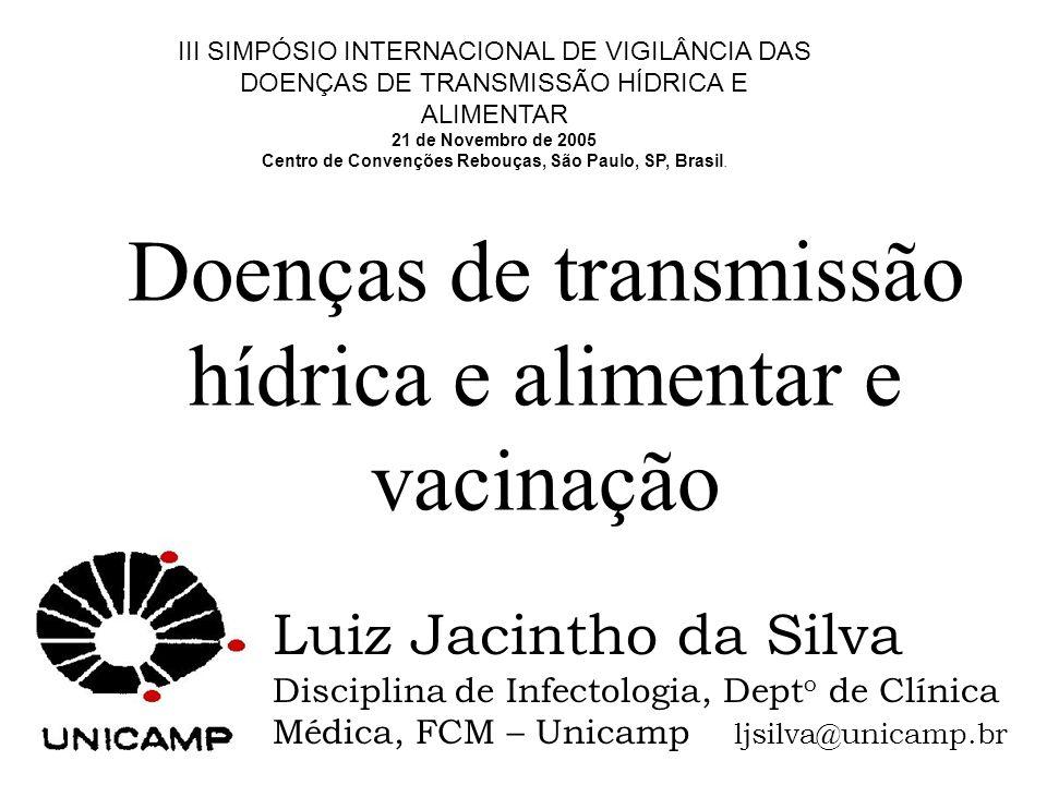 Vacinas em desenvolvimento ETEC EHEC STEC [O157H7] Campylobacter spp.