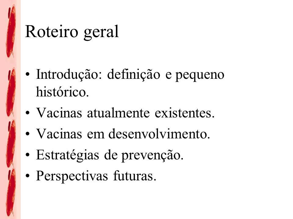 Roteiro geral Introdução: definição e pequeno histórico.