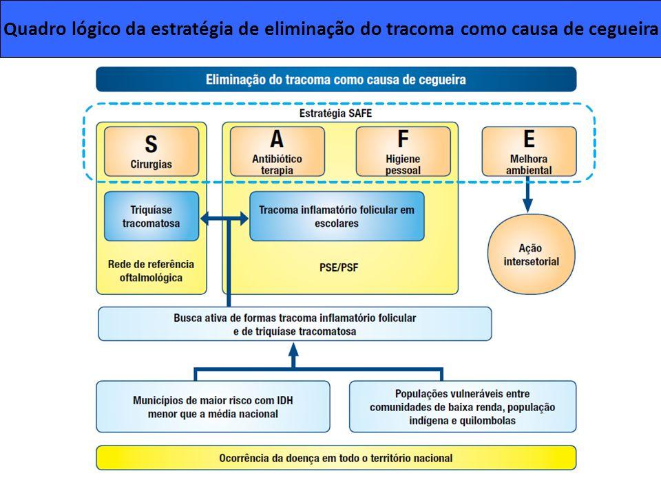 Quadro lógico da estratégia de eliminação do tracoma como causa de cegueira