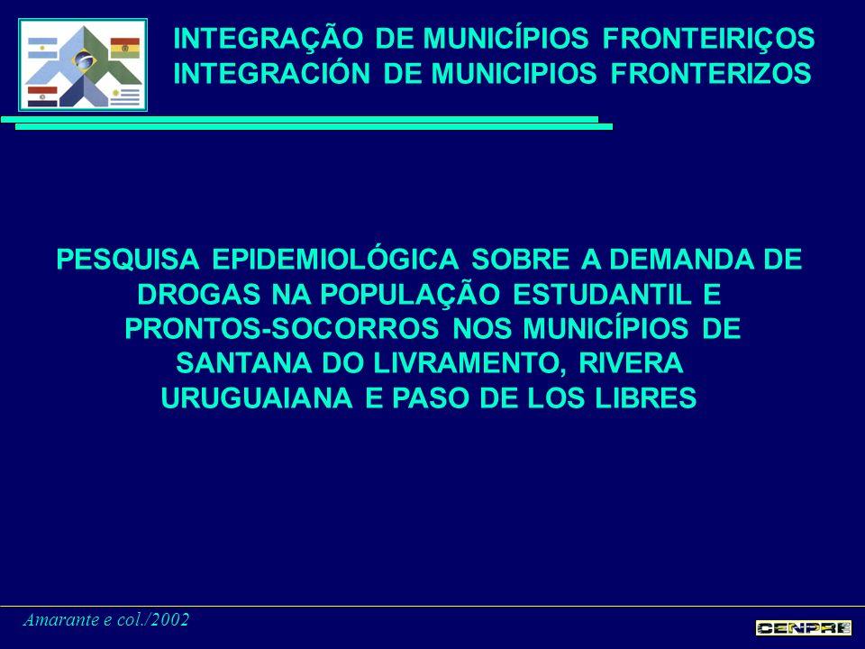 PESQUISA EPIDEMIOLÓGICA - CONCLUSÕES Uruguaiana Paso de Los Libres Santana do Livramento Rivera