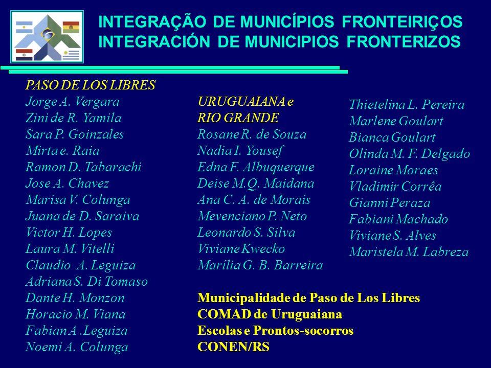 PASO DE LOS LIBRES Jorge A. Vergara Zini de R. Yamila Sara P.