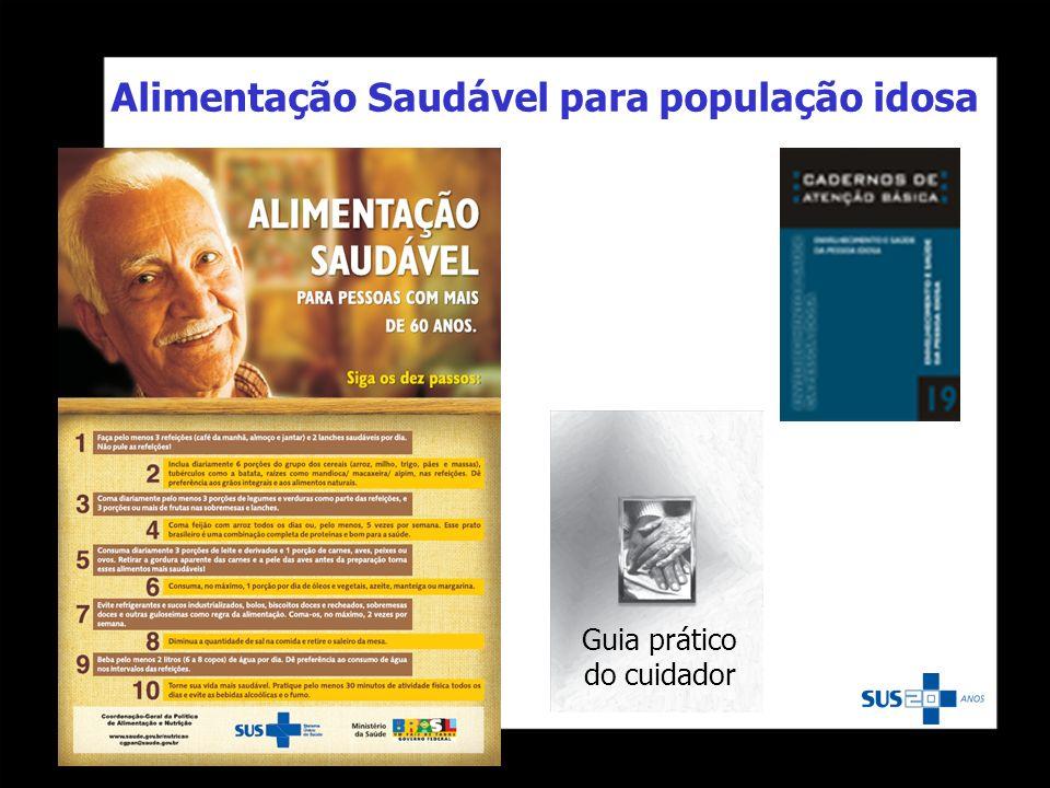 Guia prático do cuidador Alimentação Saudável para população idosa