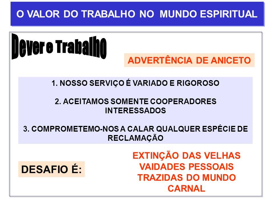 ADVERTÊNCIA DE ANICETO 1. NOSSO SERVIÇO É VARIADO E RIGOROSO 2. ACEITAMOS SOMENTE COOPERADORES INTERESSADOS 3. COMPROMETEMO-NOS A CALAR QUALQUER ESPÉC