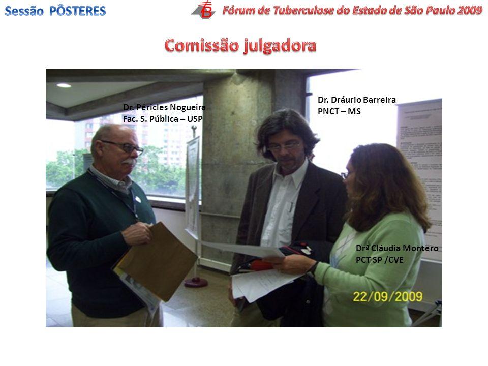 Dr. Péricles Nogueira Fac. S. Pública – USP Dr. Dráurio Barreira PNCT – MS Drª Cláudia Montero PCT SP /CVE