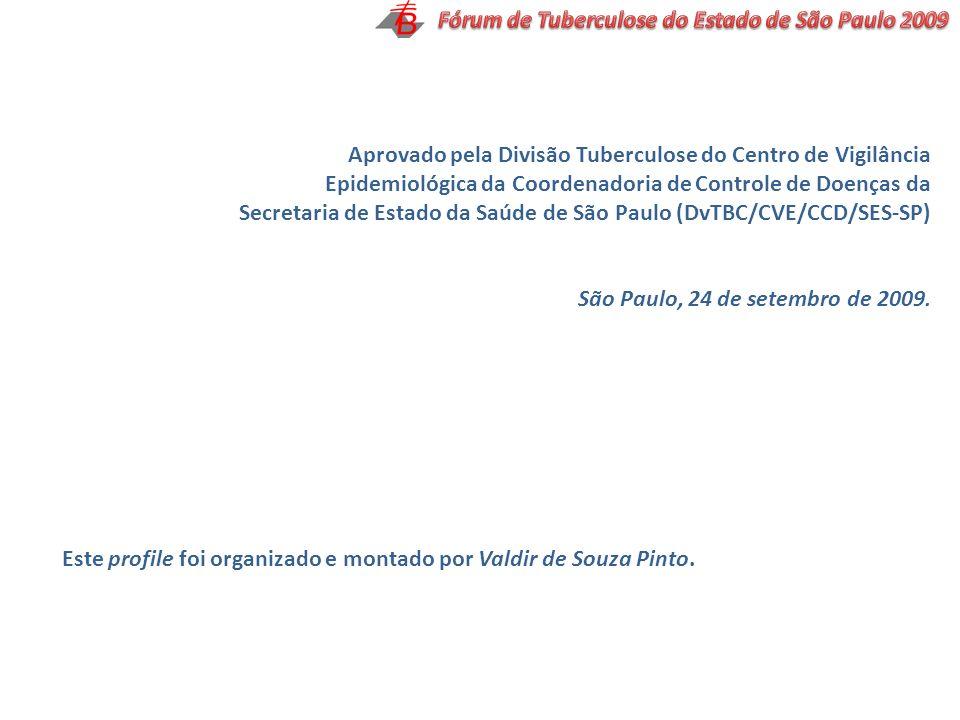 Aprovado pela Divisão Tuberculose do Centro de Vigilância Epidemiológica da Coordenadoria de Controle de Doenças da Secretaria de Estado da Saúde de S