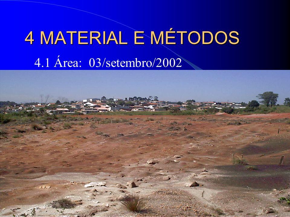 19 4 MATERIAL E MÉTODOS 4.1 Área: 03/setembro/2002