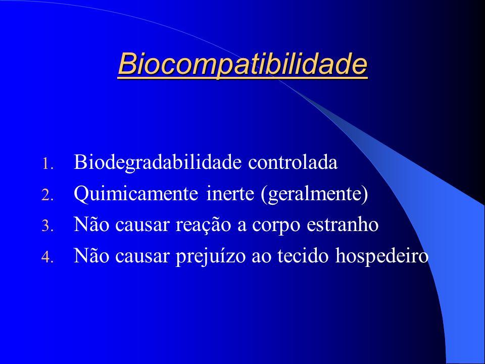 Biocompatibilidade 1.Biodegradabilidade controlada 2.
