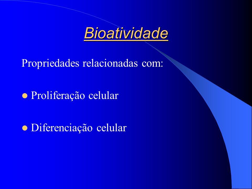 Bioatividade Propriedades relacionadas com: Proliferação celular Diferenciação celular