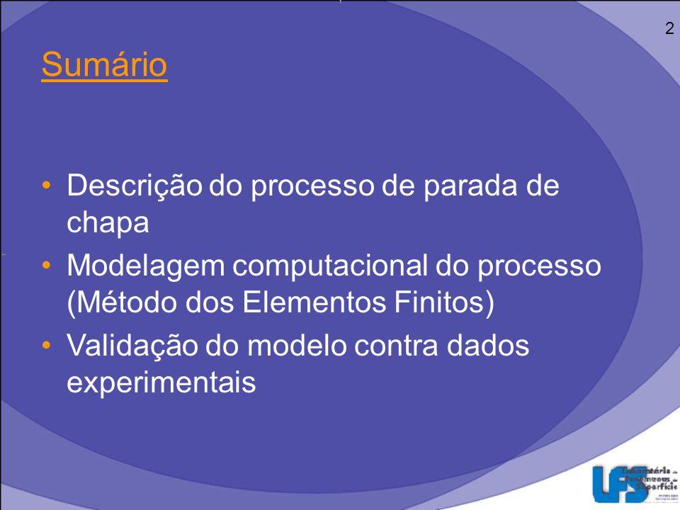 Laminação Processo de conformação mecânica –Alta produtividade –Precisão no controle dimensional 3