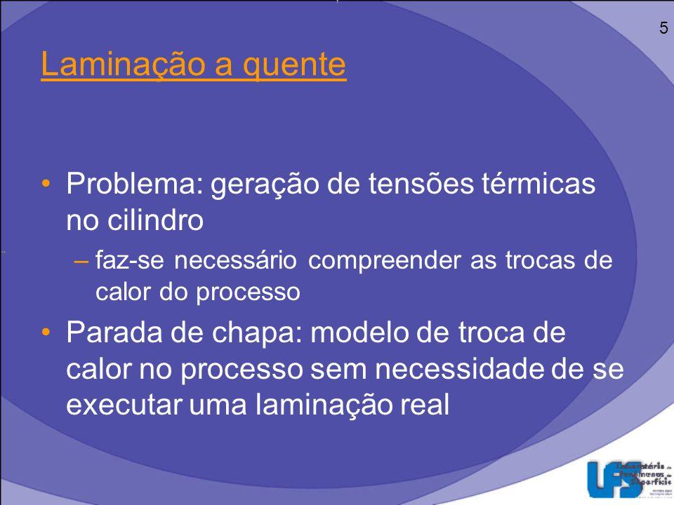 Objetivos Obter um modelo eficiente na descrição das trocas de calor envolvidas no processo de laminação Entender a forma como o programa utilizado (ABAQUS) processa as trocas de calor 6