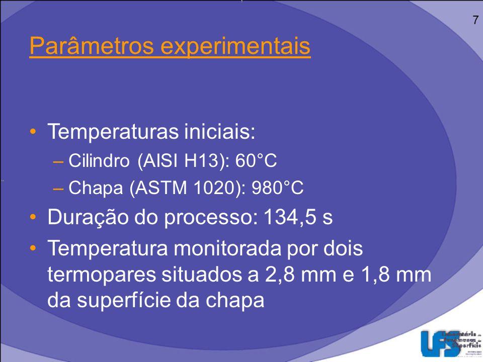 Filme de Óxido Formação Propriedades –FeO (wustita) –Fe 3 O 4 (magnetita) –Fe 2 O 3 (hematita) Conseqüência: Diminuição da temperatura final do cilindro 8