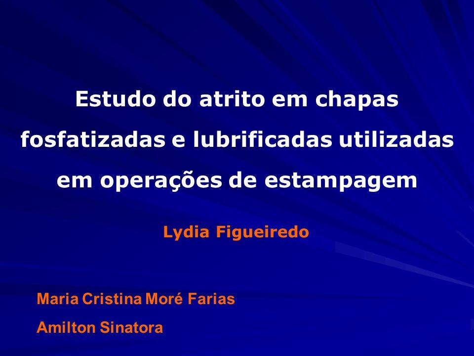 Maria Cristina Moré Farias Amilton Sinatora Estudo do atrito em chapas fosfatizadas e lubrificadas utilizadas em operações de estampagem Lydia Figueir