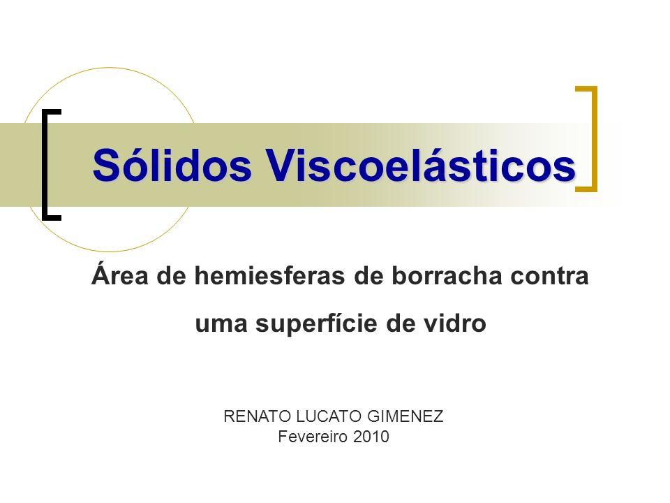 Sólidos Viscoelásticos RENATO LUCATO GIMENEZ Fevereiro 2010 Área de hemiesferas de borracha contra uma superfície de vidro