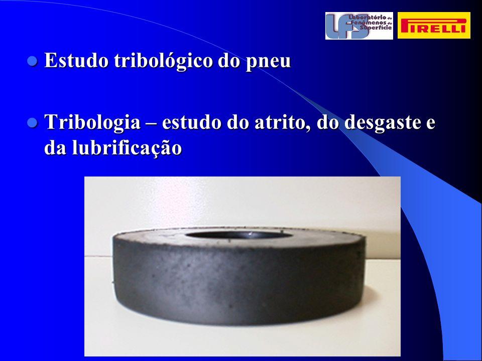 Estudo tribológico do pneu Estudo tribológico do pneu Tribologia – estudo do atrito, do desgaste e da lubrificação Tribologia – estudo do atrito, do d