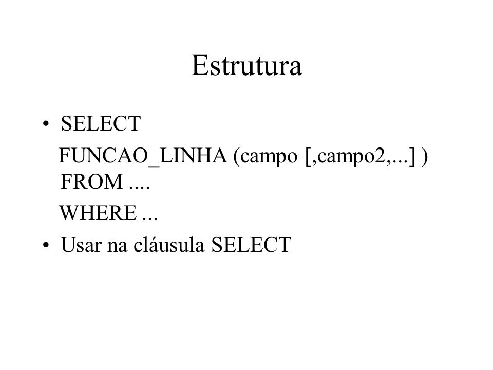 Funções de datas no postgres SELECT CURRENT_TIME; SELECT CURRENT_DATE; SELECT CURRENT_TIMESTAMP; SELECT CURRENT_TIMESTAMP(2); SELECT LOCALTIMESTAMP; SELECT timeofday(); SELECT now(); SELECT TIMESTAMP now ;