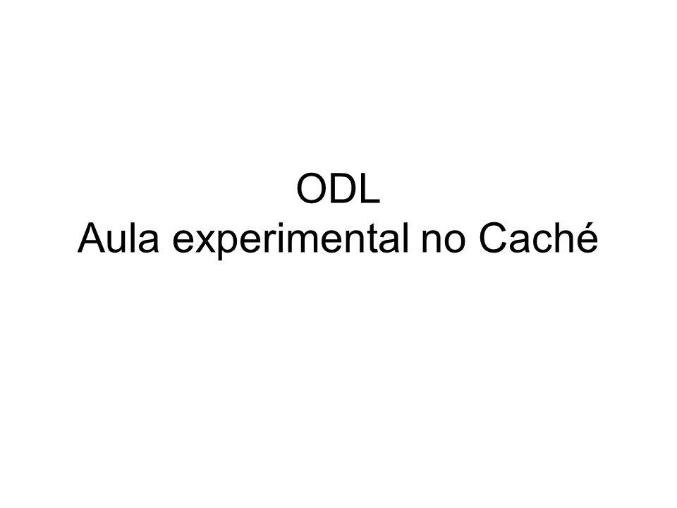 Caché BD OR Módulo STUDIO –Interface para ODL –Criar projeto –Adicionar classes