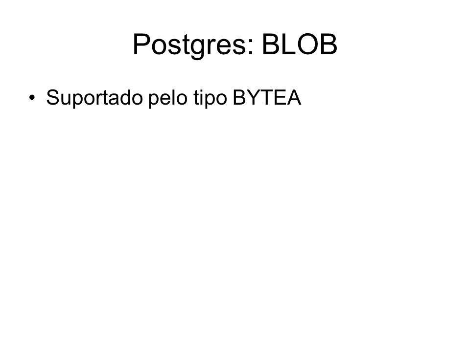 Postgres: BLOB Suportado pelo tipo BYTEA