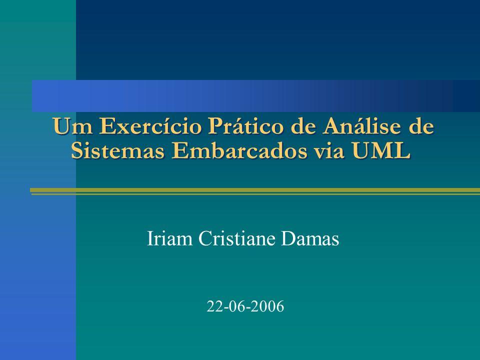 Um Exercício Prático de Análise de Sistemas Embarcados via UML Iriam Cristiane Damas 22-06-2006