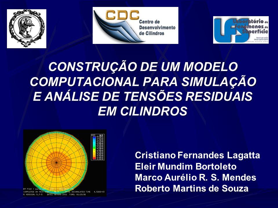 SUMÁRIO -Geração de tensões residuais -Objetivos do projeto -Tratamento térmico -Modelo matemático -Resultados -Conclusões -Próximos passos 01