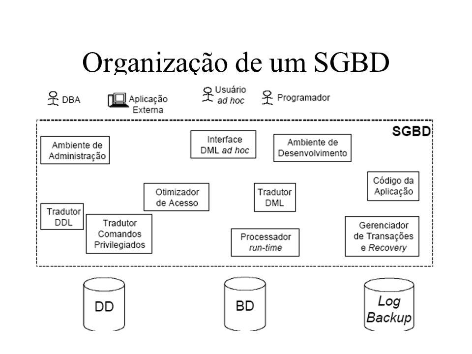 Organização de um SGBD