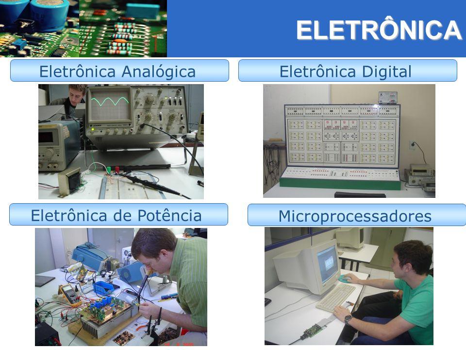 ELETRÔNICA ELETRÔNICA Eletrônica Analógica Eletrônica de Potência Eletrônica Digital Microprocessadores