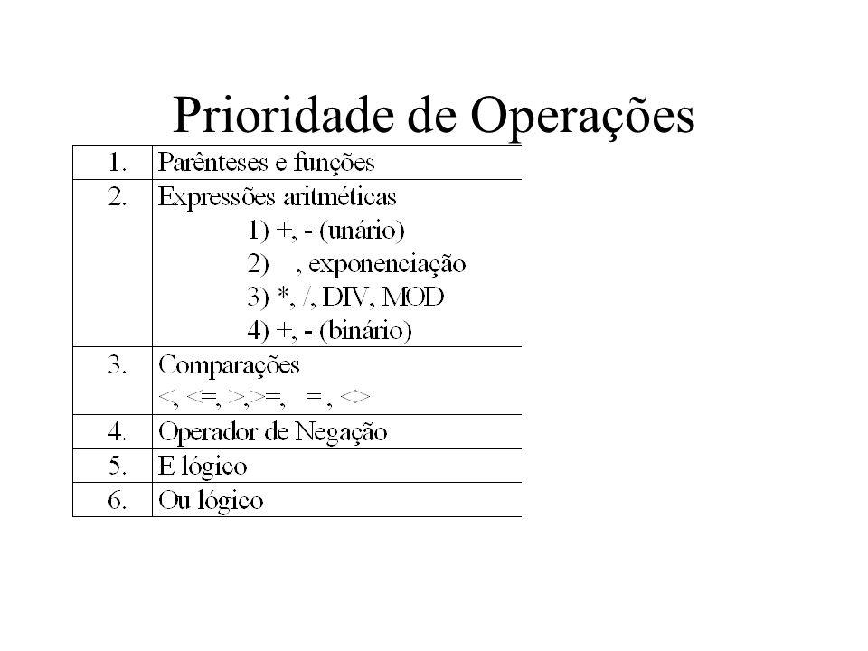 Prioridade de Operações