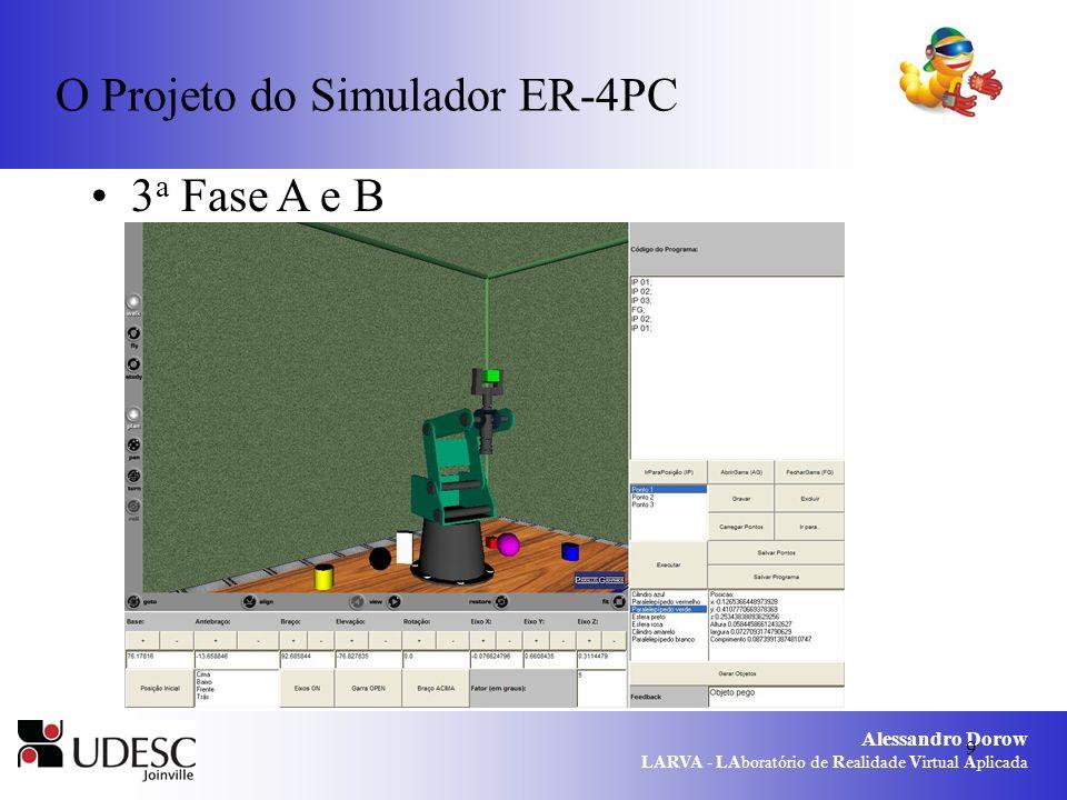 Alessandro Dorow LARVA - LAboratório de Realidade Virtual Aplicada 9 O Projeto do Simulador ER-4PC 3 a Fase A e B
