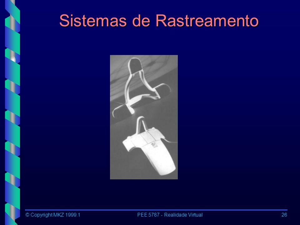 © Copyright MKZ 1999.1PEE 5787 - Realidade Virtual26 Sistemas de Rastreamento