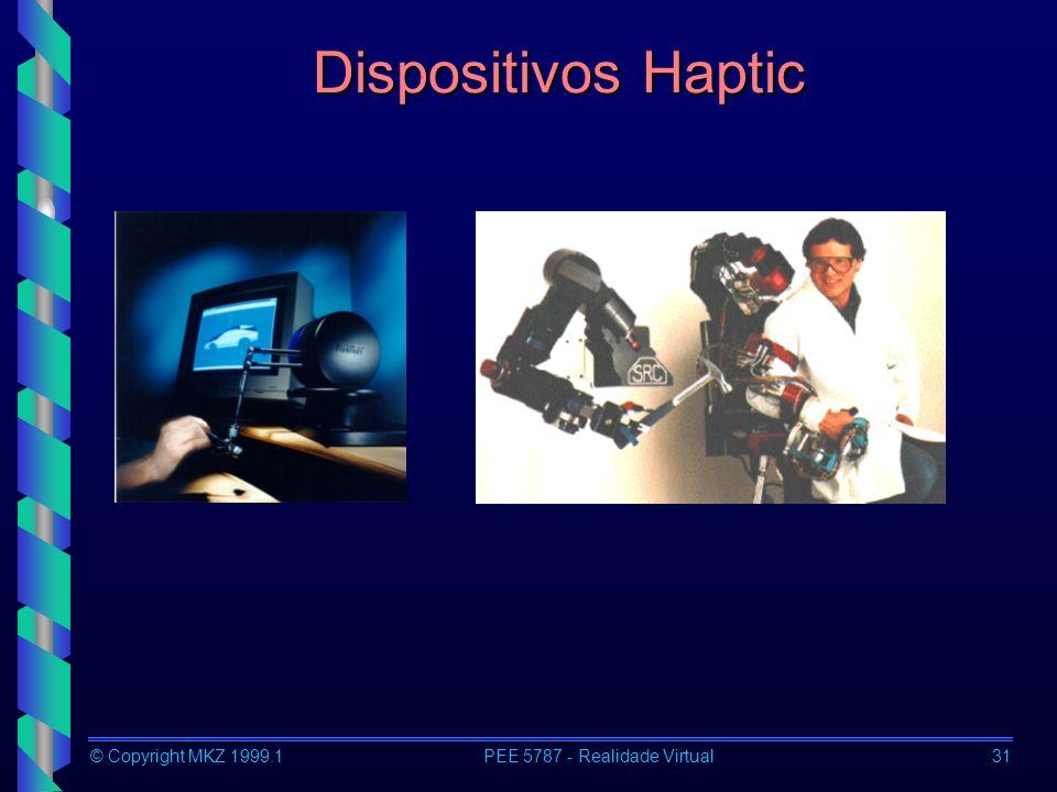 © Copyright MKZ 1999.1PEE 5787 - Realidade Virtual31 Dispositivos Haptic