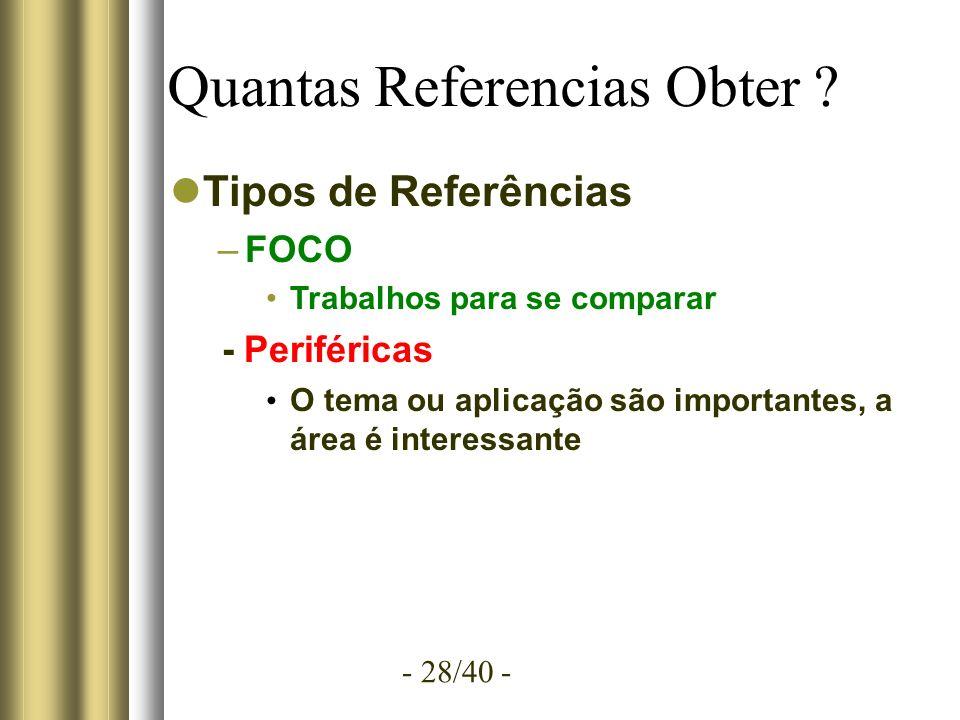 - 28/40 - Quantas Referencias Obter .