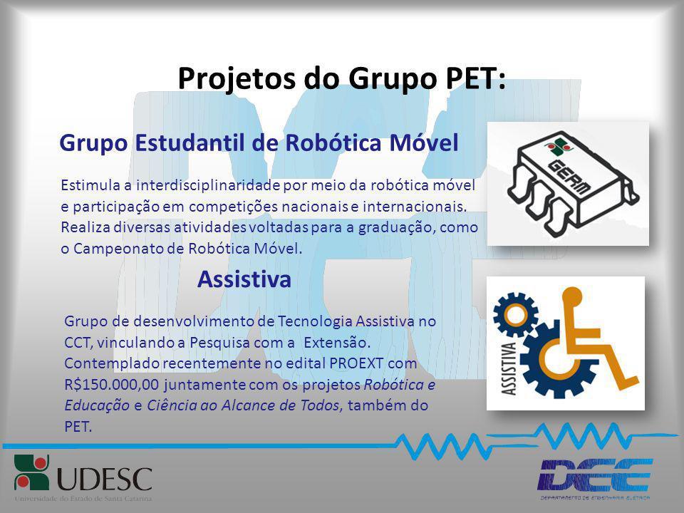 Projetos do Grupo PET: Grupo Estudantil de Robótica Móvel Estimula a interdisciplinaridade por meio da robótica móvel e participação em competições na
