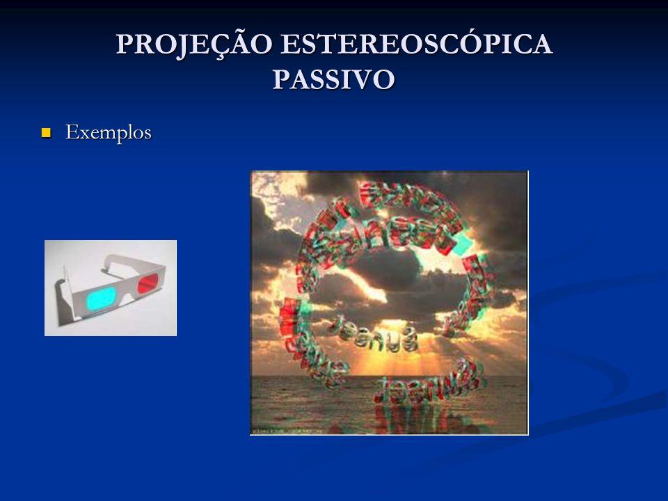 PROJEÇÃO ESTEREOSCÓPICA PASSIVO Exemplos Exemplos