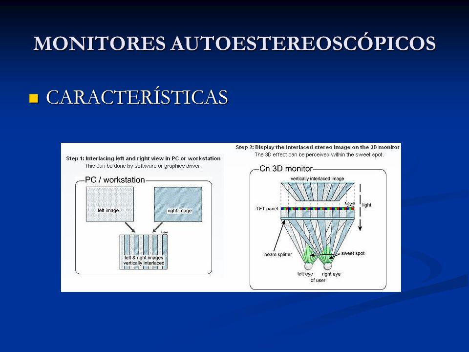 MONITORES AUTOESTEREOSCÓPICOS CARACTERÍSTICAS CARACTERÍSTICAS