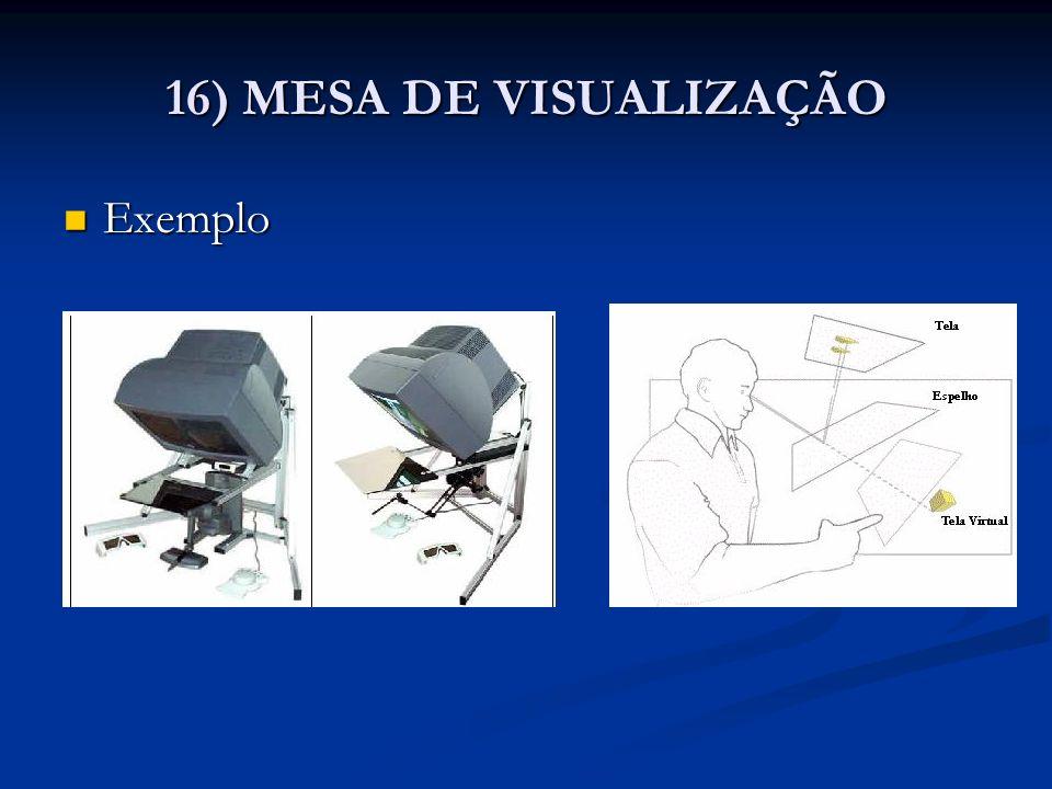 Exemplo Exemplo 16) MESA DE VISUALIZAÇÃO