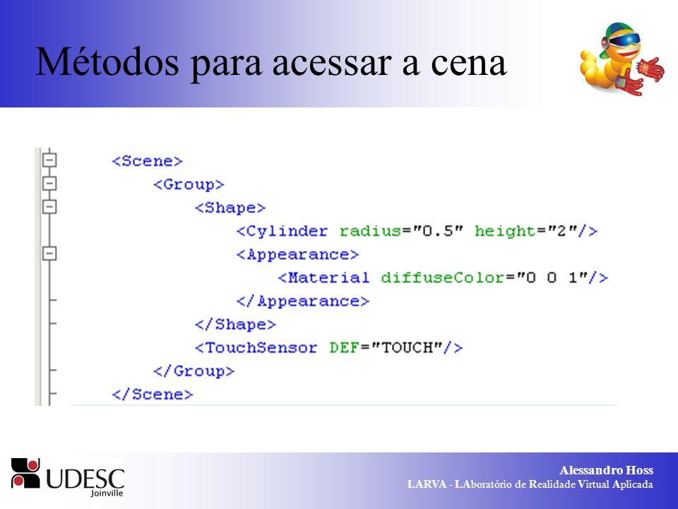 Alessandro Hoss LARVA - LAboratório de Realidade Virtual Aplicada Métodos para acessar a cena