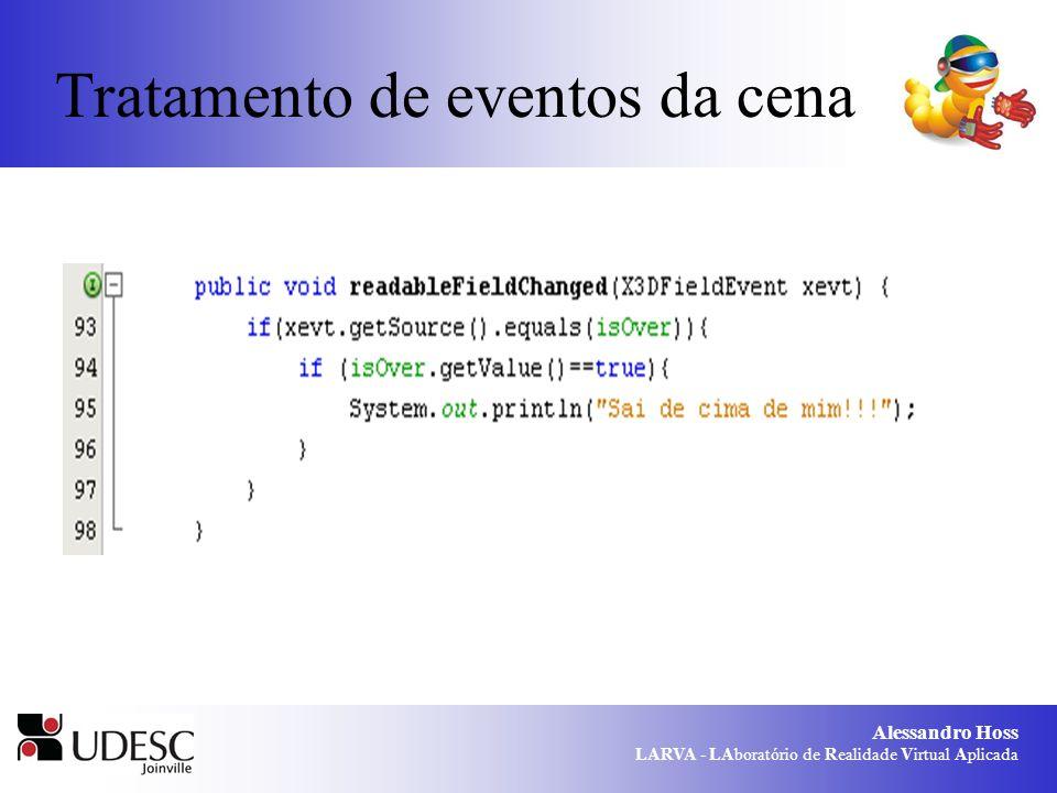 Alessandro Hoss LARVA - LAboratório de Realidade Virtual Aplicada Tratamento de eventos da cena