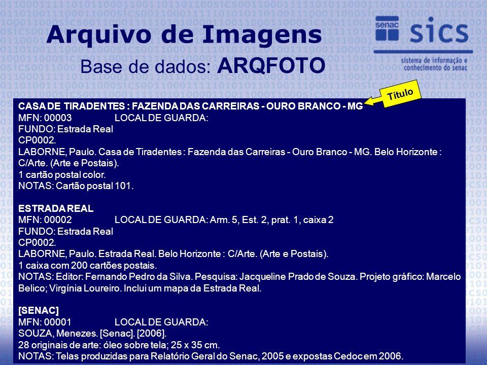 Arquivo de Imagens Base de dados: ARQFOTO CASA DE TIRADENTES : FAZENDA DAS CARREIRAS - OURO BRANCO - MG MFN: 00003 LOCAL DE GUARDA: FUNDO: Estrada Rea