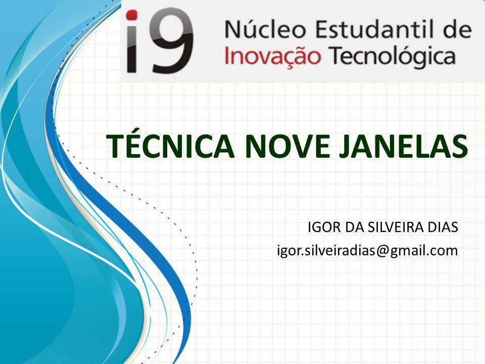TÉCNICA NOVE JANELAS IGOR DA SILVEIRA DIAS igor.silveiradias@gmail.com