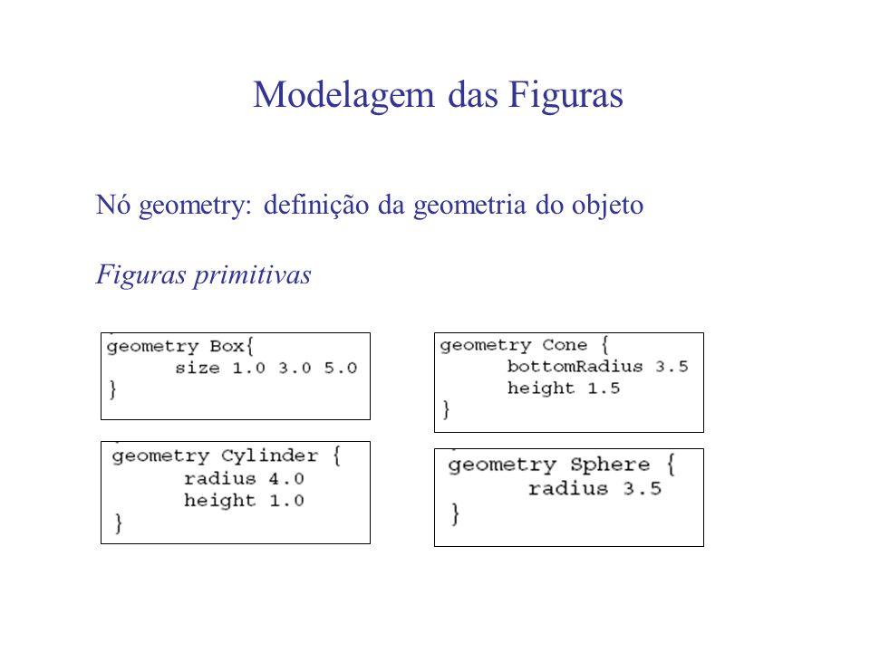 Tarefa #1 Modelar em arquivos diferentes: Caixa com base 2 altura 3 e profundidade 1 Cone com raio 4 e altura 2 Cilindro com raio 2 e altura 4 Esfera com raio 5