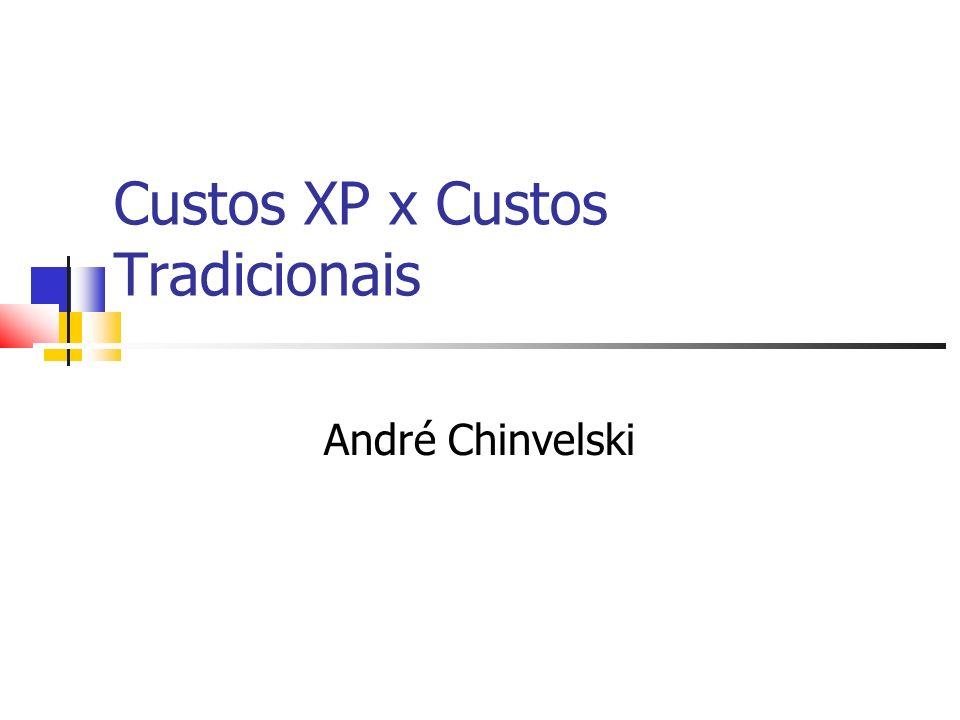 Custos XP x Custos Tradicionais André Chinvelski