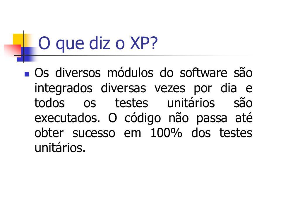 O que diz o XP.