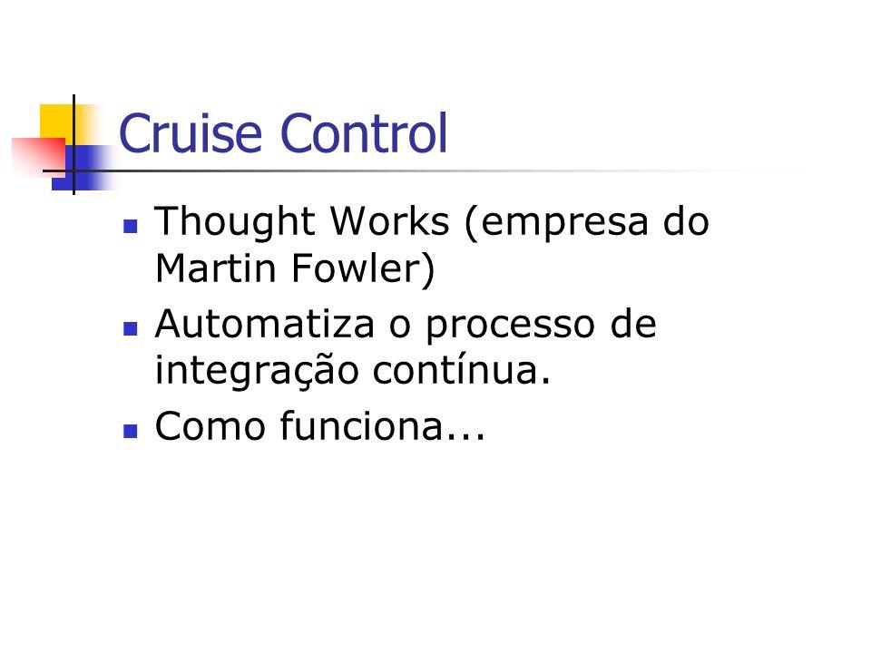 Cruise Control Thought Works (empresa do Martin Fowler) Automatiza o processo de integração contínua.